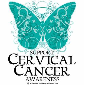 Mariposa del cáncer de cuello del útero fotoescultura vertical