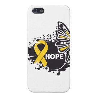 Mariposa del cáncer de la niñez de la esperanza iPhone 5 cárcasas