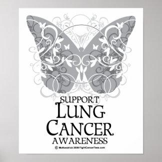 Mariposa del cáncer de pulmón impresiones