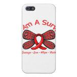 Mariposa del cáncer de sangre soy un superviviente iPhone 5 cobertura