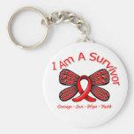 Mariposa del cáncer de sangre soy un superviviente llavero
