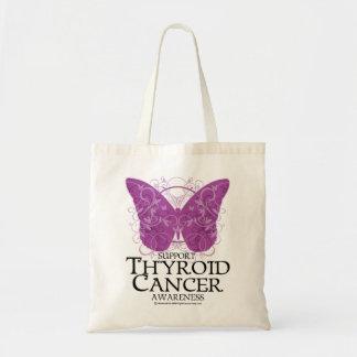 Mariposa del cáncer de tiroides bolsas lienzo