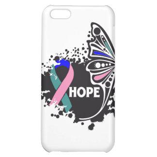 Mariposa del cáncer de tiroides de la esperanza