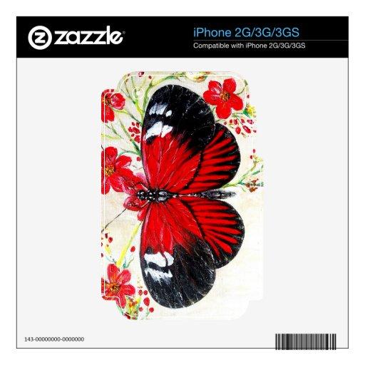 Mariposa del cartero skins para iPhone 2G