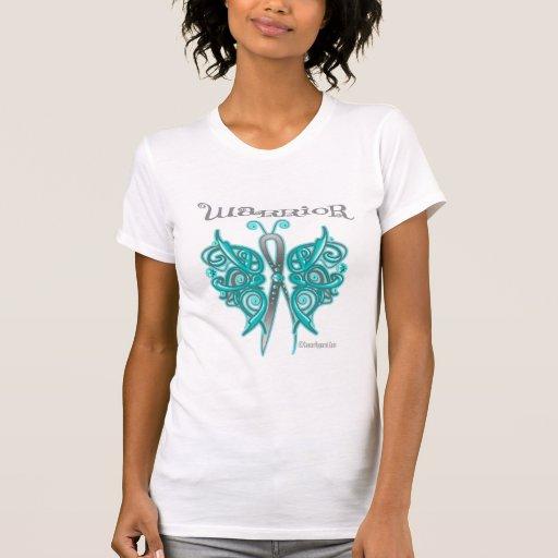 Mariposa del Celtic del guerrero del cáncer ováric Camiseta