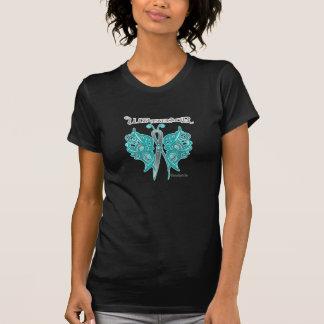 Mariposa del Celtic del guerrero del cáncer T-shirts