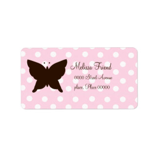 Mariposa del chocolate etiquetas de dirección