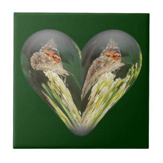 mariposa del corazón azulejo cerámica