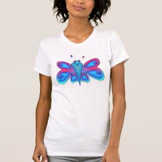 Mariposa del corazón del dragón camiseta