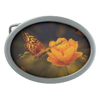 Mariposa del cuento de hadas hebilla de cinturon oval