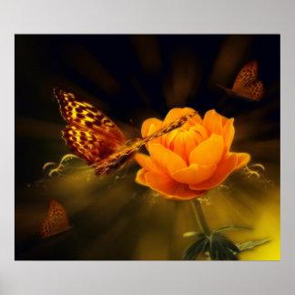 Mariposa del cuento de hadas póster