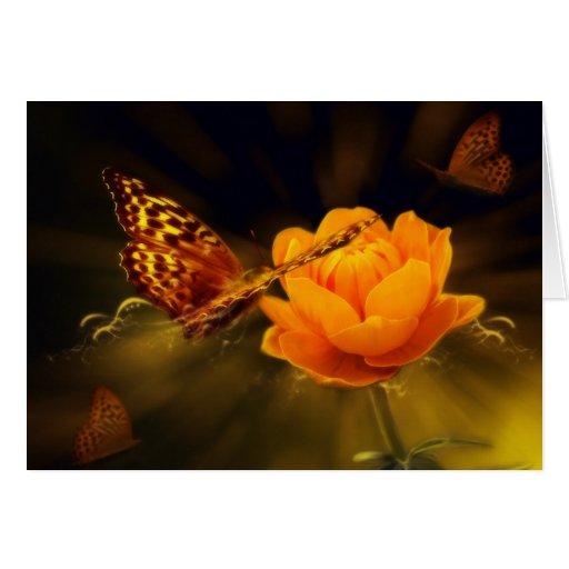 Mariposa del cuento de hadas tarjeta de felicitación