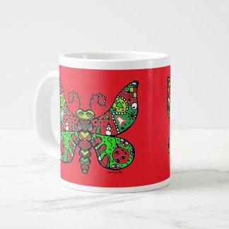 Mariposa del día de fiesta del navidad taza grande