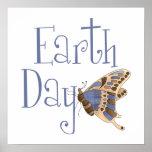 Mariposa del Día de la Tierra Poster