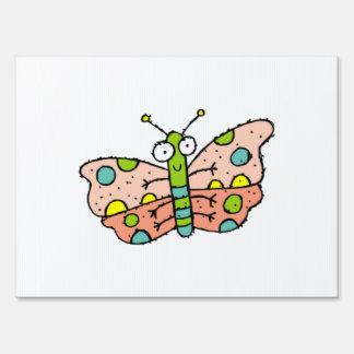 Mariposa del dibujo animado señal
