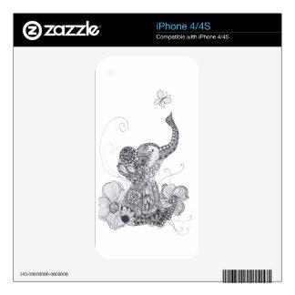 Mariposa del elefante calcomanías para iPhone 4