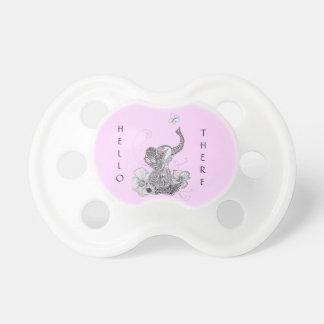 Mariposa del elefante chupete de bebé