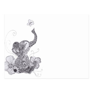 Mariposa del elefante tarjeta postal