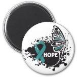 Mariposa del escleroderma de la esperanza imán