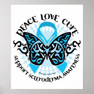 Mariposa del escleroderma tribal poster