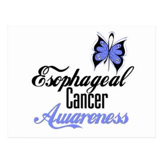 Mariposa del esófago de la conciencia del cáncer tarjeta postal