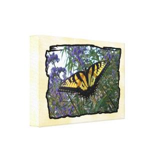 Mariposa del este de Swallowtail del tigre Lienzo Envuelto Para Galerias