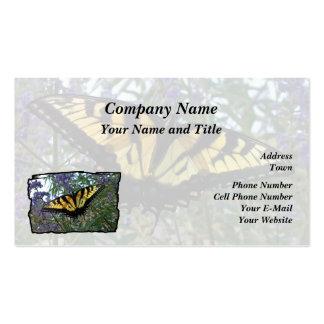 Mariposa del este de Swallowtail del tigre Tarjetas De Visita