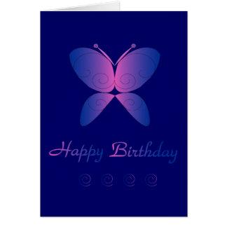 Mariposa del feliz cumpleaños felicitaciones