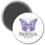 Mariposa del Fibromyalgia Imán De Frigorífico