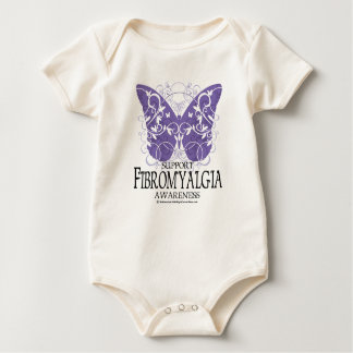 Mariposa del Fibromyalgia Mameluco De Bebé