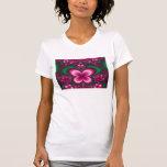 Mariposa del fractal camisetas