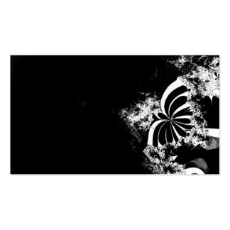Mariposa del fractal tarjetas de visita