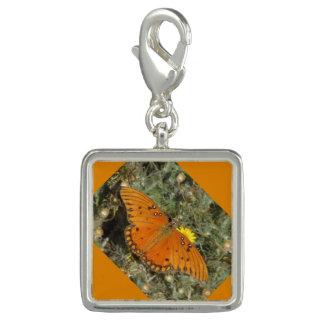 Mariposa del Fritillary del golfo Dije Con Foto