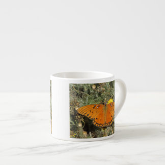 Mariposa del Fritillary del golfo Taza Espresso