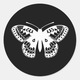 Mariposa del Fritillary Pegatina Redonda