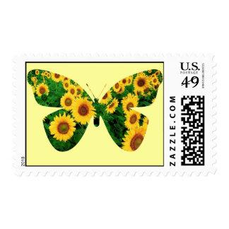Mariposa del girasol timbres postales