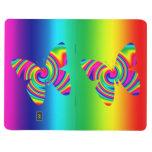 Mariposa del giro del arco iris cuadernos grapados