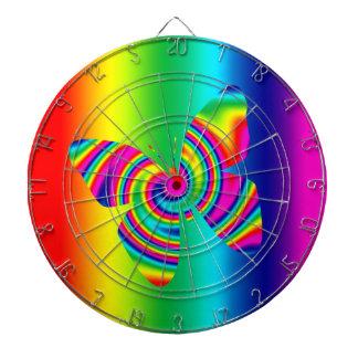 Mariposa del giro del arco iris