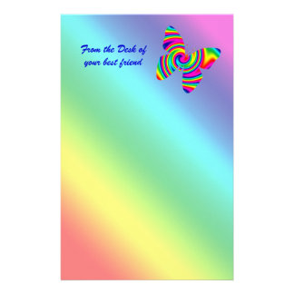 Mariposa del giro del arco iris papeleria