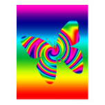 Mariposa del giro del arco iris postal