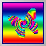 Mariposa del giro del arco iris posters