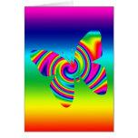 Mariposa del giro del arco iris tarjeta