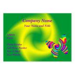 Mariposa del giro del arco iris tarjetas de visita grandes