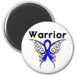 Mariposa del guerrero del cáncer de colon imán de frigorifico