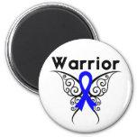 Mariposa del guerrero del cáncer rectal imanes de nevera