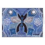 Mariposa del invierno que soña la tarjeta