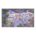 Mariposa del jardín secreto plantillas de tarjeta de negocio