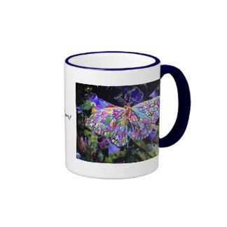 ¡Mariposa del jardín secreto! Taza De Dos Colores