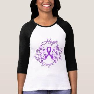 Mariposa del lema de la esperanza de la epilepsia camisetas