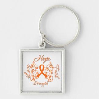 Mariposa del lema de la esperanza de la esclerosis llavero personalizado